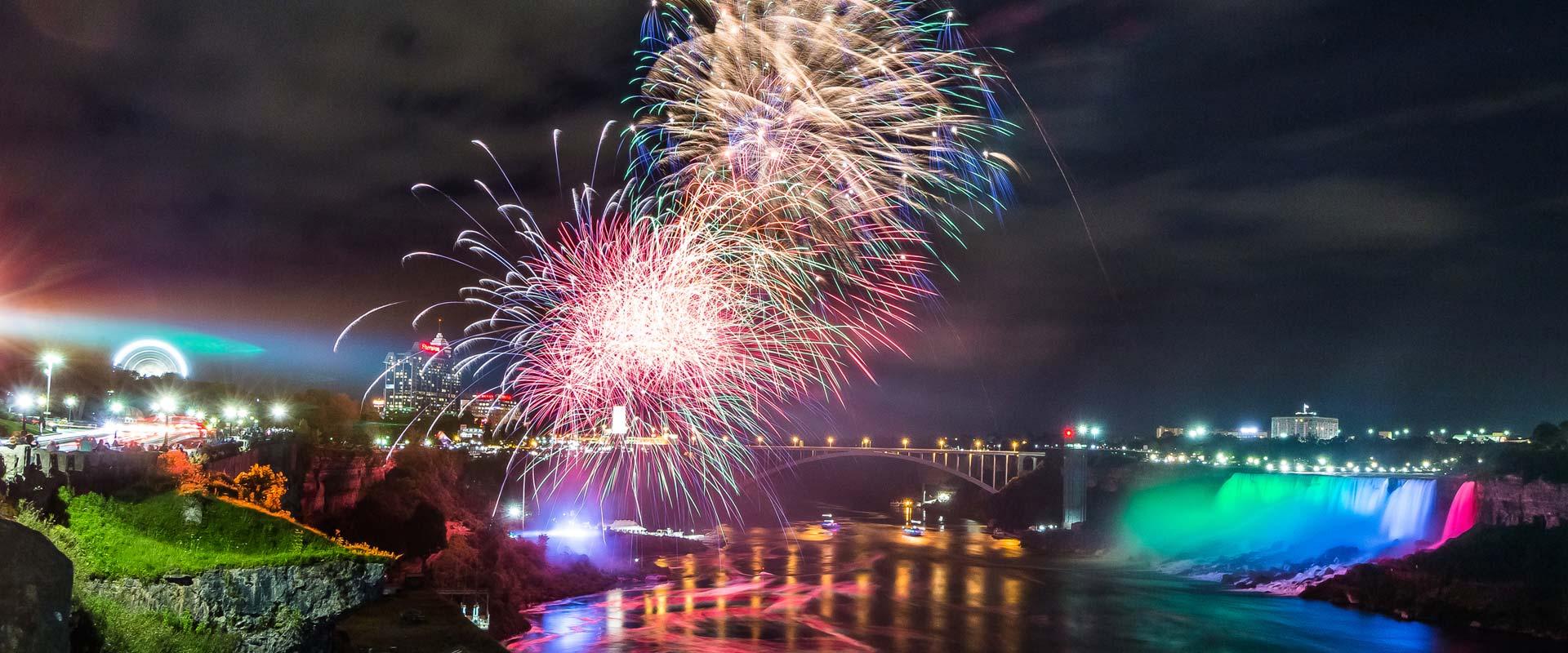 Fireworks Over The Falls Winter Festival Of Lights